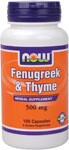 Fenugreek is one of the oldest herbs traditionally used in ancient Greece, Egypt, and China.  It has been used in a variety of ways and can be added to hot water to make tea.  T vulgaris variety of Thyme is the cultivated form of wild thyme.  .