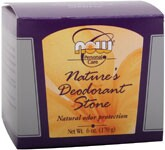 Natural Odor Protection By leaving a tiny residue of odor-controlling mineral salts, NOW Nature's Deodorant Stone is completely free of any harsh chemicals, oils, perfumes, alcohol, preservatives or aluminum chlorohydrate..