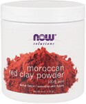 A purifying masque for sensitive skin, NOW Moroccan Red Clay is an all-natural powder clay that is highly absorbent and mixes easily with water and other moisturizing products..