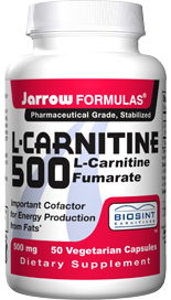 L-Carnitine is an amino acid found in high concentrations in heart and liver tissues, where, inside the cells (mitochondria), L-Carnitine helps transform fats into energy..