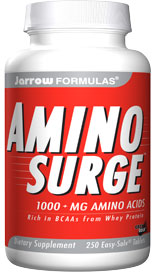 AMINO SURGE is especially rich in Branched Chain Amino Acids (223 mg per tablet), which are essential for formation of muscle mass and positive nitrogen balance..
