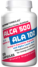 ALCA and ALA work synergistically as antioxidants. Acetyl-L-Carnitine Arginate (ALCA) and Alpha Lipoic Acid (ALA) support the mitochondrial production of energy..