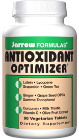 Antioxidant Optimizer is a potentent blend of synergistic and powerful antioxidants. Including:Lutein, Lycopene (Lyc-O-Mato), Green Tea 5:1 extract, Milk Thistle, OleaSelect Olive Fruit Extract, LeucoSelect Grape Seed andGamma Tocopherol..
