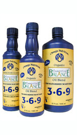 Essential Balance 3-6-9 is a specially formulated blend of organic oils that provides a balance of polyunsaturated fats in the one to one ratio of omega-3 to omega-6 and also contains 4g per serving of omega-9 monounsaturates..