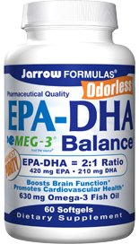 EPA-DHA Balance offers synergistic benefits from both important omega-3 fatty acids in a 2:1 ratio..