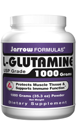 For athletes, maximal results will be obtained by supplementing with 2 grams of glutamine after exercise..