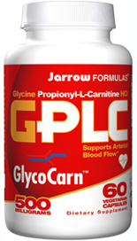 Glycine Propionyl L-Carnitine Capsules -  PLC Clinically-Studied for Heart Health* - SigmaTau GlycoCarn GPLC 100% USP grade - Clinically-Studied in Sports Nutrition - Active-muscle specific carnitine..