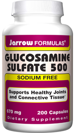 Glucosamine is a component of joints and intestinal tissue and is involved in the production of synovial fluid, which lubricates the joints.
