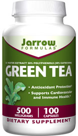 The polyphenols in Jarrow Formulas Green Tea are potent antioxidants and support cardiovascular and immune health..