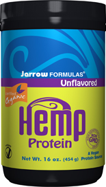 Jarrow FORMULAS Organic Hemp Protein is a rich source of protein, that provides more of the nine essential amino acids (4.5 grams per serving) than soy or egg proteins, in the form of easily digestible globular proteins..