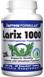 Jarrow Formulas Larix 1000 contains arabino-galactans extracted from the larch tree..