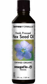 arrow Formulas Jarrow's Organic Flax Seed Oil is concentrated in beneficial Omega 3, 6 and 9 fatty acids..