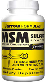 Jarrow FORMULAS MSM 1000 is an organic source of bioavailable sulfur. Sulfur is an antioxidant mineral found in major structural tissues of the body such as cartilage..