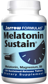 Biorhythm is disturbed by stress, crossing time zones and changing work shifts. Restore your natural biorythm with Jarrow Formulas Melatonin Sustain timed release tablets..