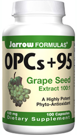 95% polyphenols from grape seeds (Vitis vinifera), highly potent phyto-antioxidants that spare vitamin C, protect capillaries and promote cardiovascular health..