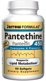 Pantethine  supports lipid metabolism by its ability to raise levels of CoA, a cofactor involved in several metabolic pathways including carbohydrate and lipid metabolism..