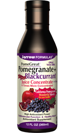 The combination of Pomegranate with Black Currant & Red Grape offers exceptionally high levels of phytonutrients with a guaranteed high ORAC value (Oxygen Radical Absorbance Capacity) of 2800 per serving.