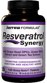 Jarrow FORMULAS Resveratrol Synergy brings together resveratrol and powerful antioxidants resulting in a potent synergistic formula..