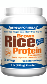 A high-protein alternative to soy and animal products, Jarrow FORMULAS Brown Rice Protein Concentrate, made from brown rice, is easily digested, hypoallergenic and a vegetarian/vegan source of protein. .