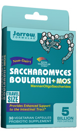 SACCHAROMYCES BOULARDII+MOS is a probiotic yeast that survives stomach acid and colonizes the intestinal tract.* It promotes the health of the intestinal tract, helps protect its beneficial microbiota, and enhances immune function.* MOS (MannanOligoSaccharide) is an oligosaccharide from the cell walls of S. cerevisiae that can prevent bacteria from adhering to the epithelial cells and reduce their proliferation*..
