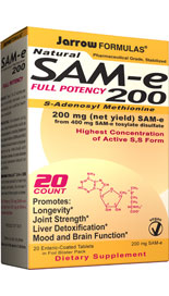 SAM-e has been clinically shown to have the following benefits: Longevity, Joint Strength, Liver Detoxification, Mood and Brain Function..