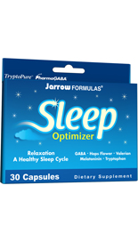 Jarrow FORMULAS Sleep Optimizer  combines herbs and amino acids that work together to facilitate falling asleep and maintaining a regular sleep cycle..