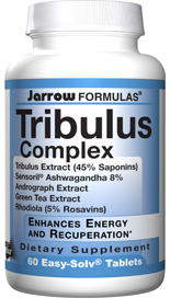 Jarrow formulas Tribulus Complex is a blend of standardized Ayurvedic extracts used by athletes to enhance energy and post-exercise recuperation..