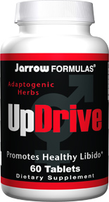 UpDrive is a formulation of herbs designed to increase libido. Testofen, an extract of a specially cultivated fenugreek, plus Horny Goatweed & Maca..