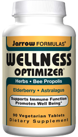 Elderberry and astragalus are included in this comprehensive blend of natures most potent herbs, bee propolis, mushrooms and chlorella extract supporting the bodys natural defense system. Wellness Optimizer by Jarrow Formulas Promotes Well Being and Immunity..