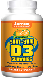 Yum-Yum D3 Gummies deliver 400 IU of vitamin D3 (as cholecalciferol) per serving in a delicious gummy. Vitamin D3 is of critical importance throughout the bodies of growing children. Adults, too..