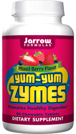 Jarrow FORMULAS Yum-Yum Zymes can help to obtain the maximum nutritional value from a meal. Jarrow FORMULAS Yum-Yum Zymes  can be enjoyed by children and adults..
