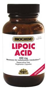 Lipoic acid is versatile water and fat soluble antioxidant that helps reduce free radical activity. This compound also helps support normal glucose metabolism..