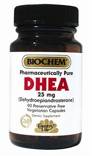 DHEA is a hormone precursor produced primarily by the adrenal gland; it is activated in the peripheral tissues. Vegetarian/Kosher.