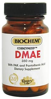 DMAE is a compound found in brain tissue. Along with synergists Pantothenic Acid and Vitamin B-6, DMAE helps support normal, healthy neurotransmitter function..