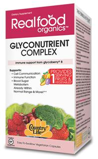Country Life's Glyconutrient Complex is a combination of GlycoBerry 8 (a complex of all 8 essential sugars) and Organic Aloe Vera (ACTIValoe). GlycoBerry 8 is derived from coffee berry (caffeine free), aspergillus niger, bladderwrack, and whey protein isolate..