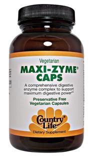 The specially prepared vegetarian sourced enzymes in Maxi-Zyme function in a wider pH range than fractional animal derived enzymes. This formula was designed to support the digestion of any typical meal with just one capsule. For protein, fat carbohydrate and fiber digestion..