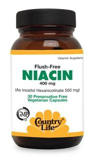 Specialized form of niacin (Inositol-hexanicotinate) provides the benefits of niacin without the unpleasant skin flushing or burning sensation often associated with niacin..
