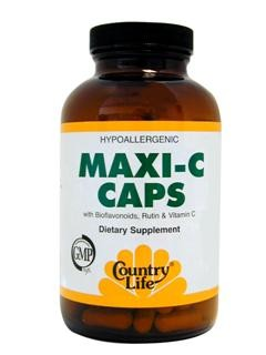 Maxi C Caps with Bioflavonoids, Rutin & Vitamin C. Bioflavonoids work synergistically with vitamin C..