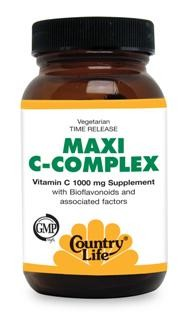 Vitamin C 1000 mg Supplement with Bioflavonoids and Associated Factors, Time Release Formula. Certified Gluten Free. Kosher..