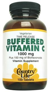 Country Life?s Buffered Vitamin C has been prepared with natural alkaline Calcium Carbonate and Magnesium Oxide which buffer and neutralize the excess acidity of vitamin C..