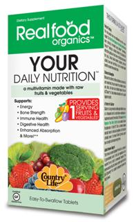 Realfood Organics by Country Life has formulated Your Daily Nutrition to provide one complete serving of fruits and vegetables to help you