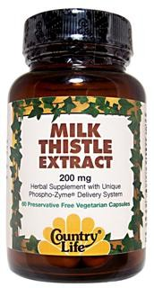 Country Life's Milk Thistle Extract has been produced using its own unique Phospho-Zyme Delivery System. This system assists in the release of herbal components..