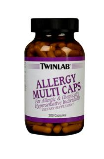 TwinLab Allergy Multi Caps are formulated to address the concerns of people with food allergy and chemical hypersensitivity problems..