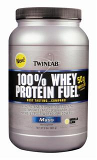TwinLab Fuel Whey Protein is a premier concentrate that is 100% instantized, quick dissolving and easy-to-mix with a rich, refreshing taste..
