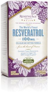 ReserveAge Organics combines organic French red-wine grapes direct from French vineyards and wild crafted natural Polygonum cuspidatum root extract into a potent and powerful rejuvenating blend..