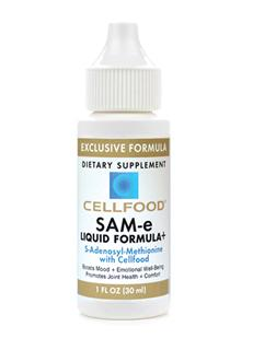 Cellfood SAM-e may be helpful with renewal and regulation of hormones, cell membranes and the neurotransmitters that affect mood. Helps promote emotional well-being, joint support and liver health..