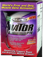 Each serving of Anator-p70, a powerful anabolic dose of gene-activating compounds triggers a cascade of events that strengthens the signals inside your muscle fibers to rapidly accelerate muscle growth. Anator-p70 immediately shuts down the gene regulators that signal muscle breakdown..