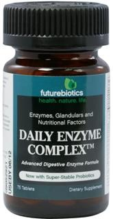 Daily Enzyme Complex is an advanced digestive enzyme formula with an array of enzymes, glandulars and nutritional factors that support digestion and assist in adequate nutrient absorption, along with the intestinal flora balancing benefits of probiotics..