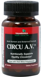Circu A.V. is a multi-nutritional approach to nutritionally supporting healthy circulation* by helping to provide nutrients that may be lacking from the diet.  Among the nutrients included in Circu A.V. is Niacin (nicotinic acid), a B vitamin. Niacin is a vasodilator, meaning it dilates the veins and increases blood flow. Niacinamide is another form of Niacin..