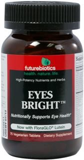 Eyes Bright is a comprehensive, high-potency antioxidant formula with vitamins, minerals, botanicals and FloraGLO Lutein designed to nutritionally support eye health.*  Employing a vast array of well-established and highly researched nutrients, Eyes Bright supplies a full-spectrum of nutritional factors to help counter the effects of oxidative stress and help maintain ocular health..